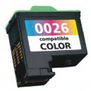 Cartucho de tinta 3 colores remanufacturado compatible Lexmark Nº26, High Yield (C-10N0026E)